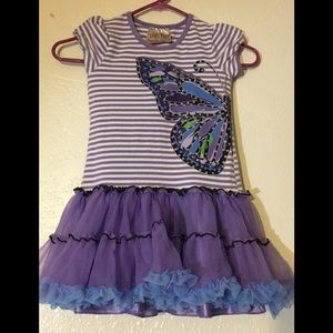 Girls Size 6 Beautees Purple Tulle Dress